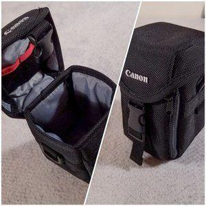 """Canon 3.5"""" x 3.5"""" x 6"""" Camera Case w/ Clip Closure"""